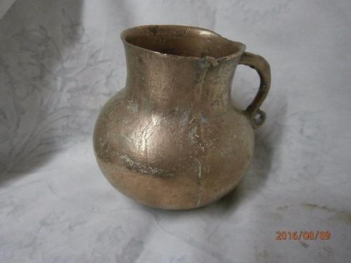 olleta criolla en cobre antigua una asa