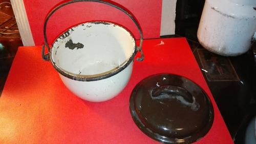ollita enlosada antigua color café claro