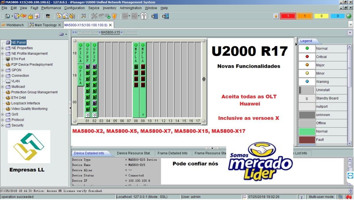 Olt - Huawei Imanager U2000 Nms Server Ver  R017 Full