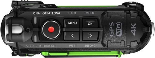 olympus tg-tracker 4k waterproof action camera /green