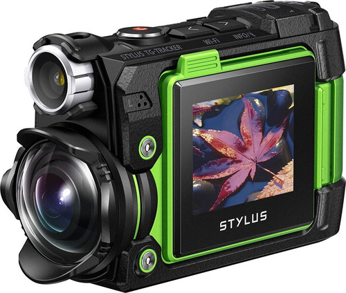 olympus tg-tracker 4k waterproof action camera /green