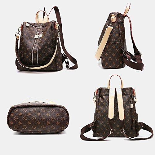 2704f58c7 Olyphy Designer Leather Backpack Purse Para Mujeres, Moda P ...