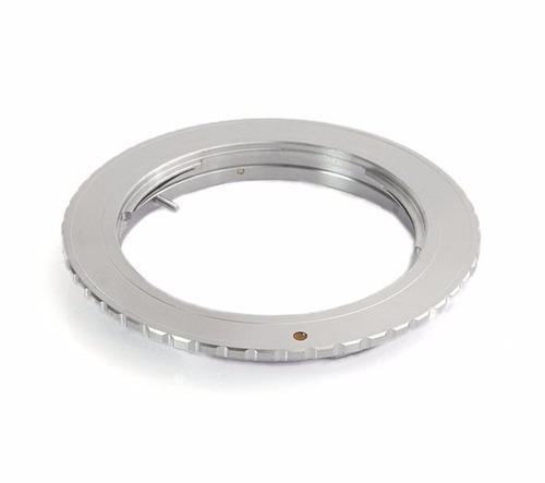 om-eos montura adaptador lente olympus a canon eos sin chip