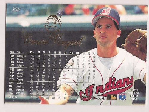 omar vizquel flair 1994 # 290 - grl