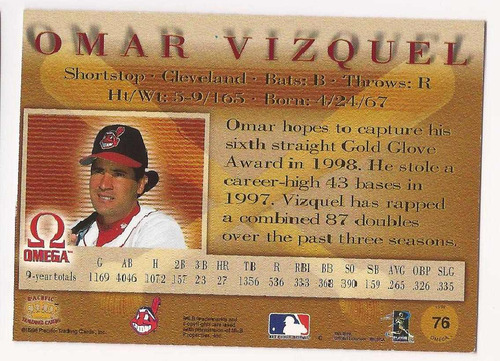 omar vizquel pacific omega 1998 # 76 - grl