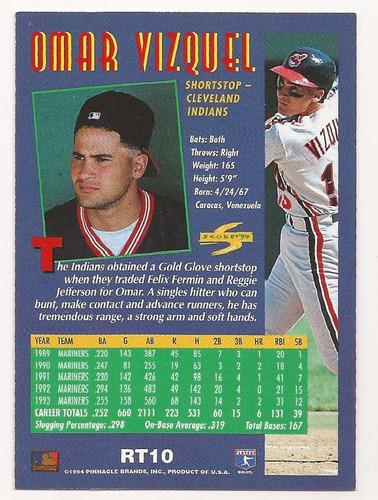 omar vizquel score rookie & traded 1994 # rt10 - grl