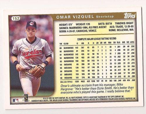 omar vizquel topps 1999 # 152 - grl