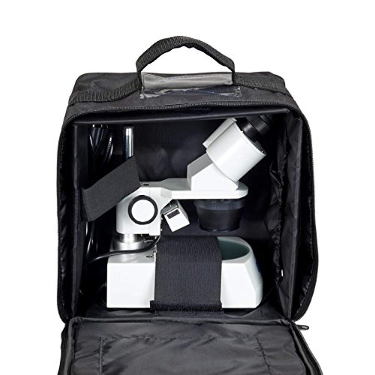 OMAX Vinyl Microscope Carrying Case 10x6x11 for G223E G223C G226C Stereo Microscopes