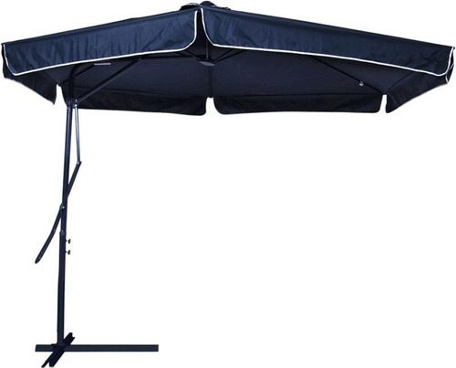 ombrellone suspenso regulagem alavanca 3m azul