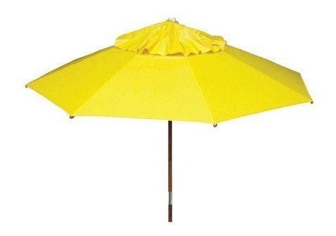 ombrelone 2,00 m sem abas amarelo