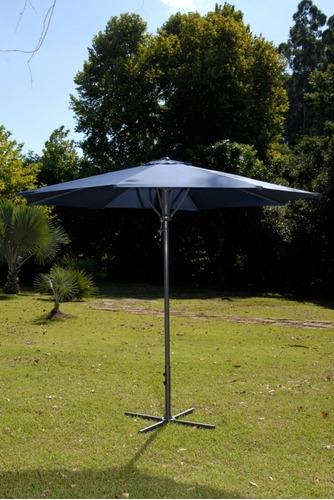 ombrelone automático para jardim 3m itapuã azul mor 009003