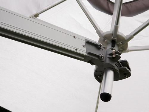 ombrelone c/ suporte de parede  2,70m/braço1,85m-frete g