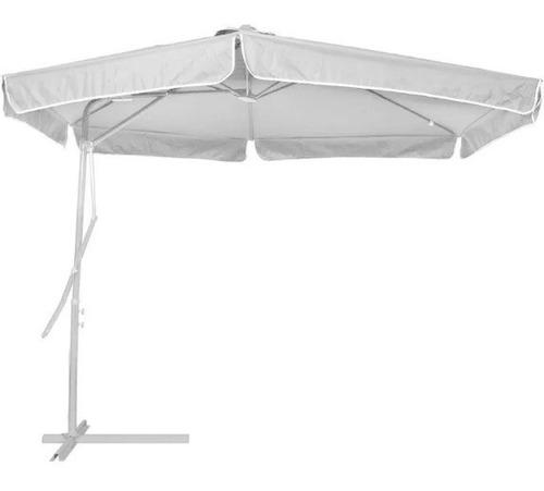 ombrelone de alavanca suspenso em poliéster 3 m. de diametro