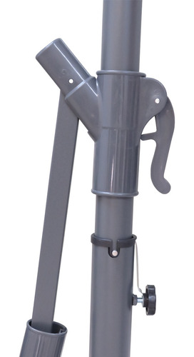 ombrelone de jardim 3m mor bege com manivela proteção 35 fps