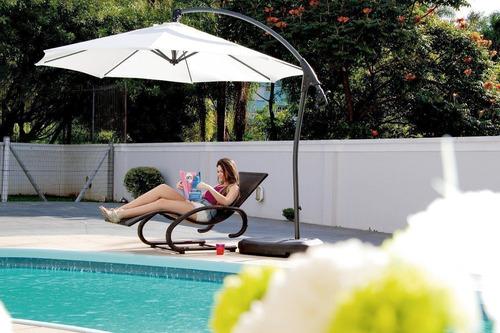 ombrelone dubai com base e capa mor para piscinas e jardins.