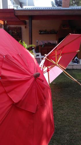 ombrelone - guarda sol grande de lona e madeira
