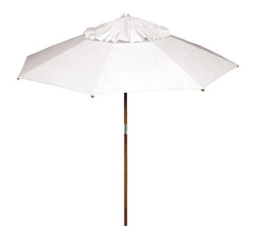 ombrelone madeira 3,00 sombreiro guarda sol praia gigante
