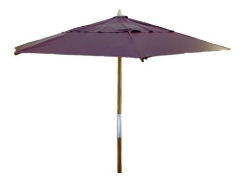 ombrelone madeira redondo 2,40 mt sobreiro guarda sol