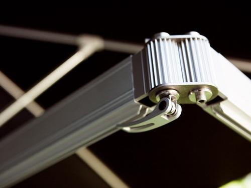 ombrelone monoflex 3m/braço 1,85m, c/ pilar de 2,05 m-frete