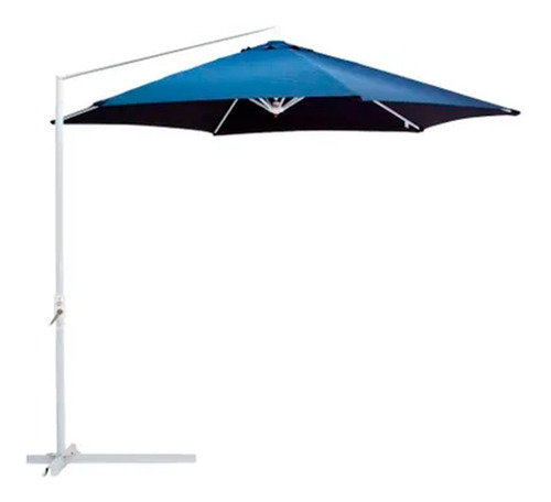 ombrelone mor 3 m azul suspenso original guarda-sol fps 100%
