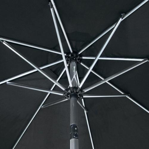 ombrelone nautika paloma 270 para jardim sem base cor preto