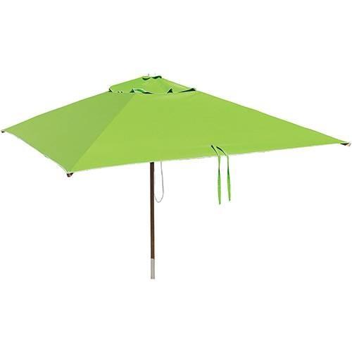 ombrelone quadrado 1,65m - sem abas - verde primavera