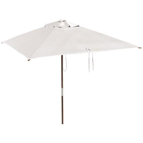 ombrelone quadrado - madeira -  1,65m - sem abas - branco