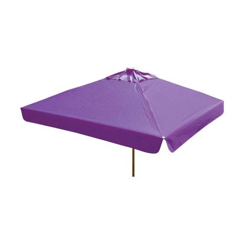 ombrelone quadrado - madeira -  2,10m - com abas - roxo