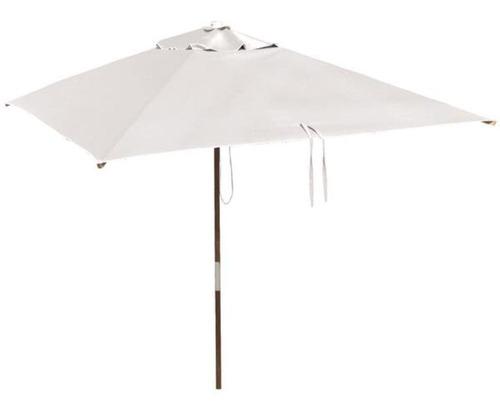ombrelone quadrado sem abas madeira 1,65m branco  botafogo