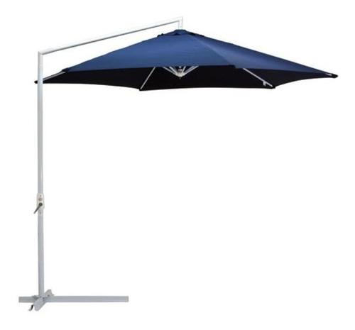 ombrelone suspenso com manivela 3 m articulado azul mor