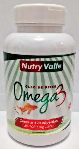 omega 3 1000mg 120 cáps nutryvalle - registrado