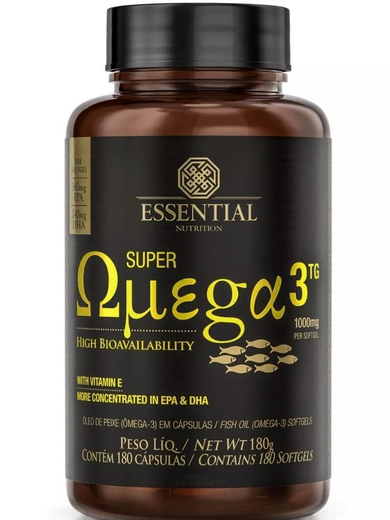 de04b451c Omega 3 - 180caps 1000mg - Essential Nutrition - R  120
