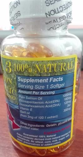 omega  3-6-9  de salmon +ajo para bajar colesterol,