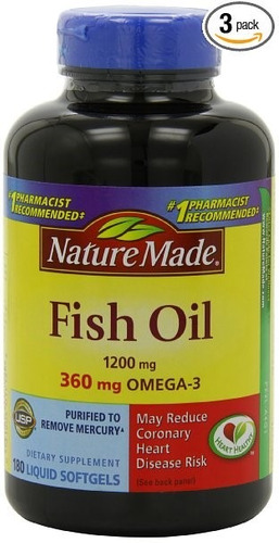 omega 3 de nature made, 180 sofgels
