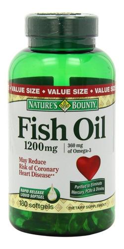 omega 3 fish oil 1200mg 180 capsulas softgel importado usa