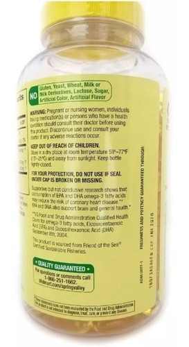 omega-3 from fish oil 1,040mg spring valley 180 cap limão