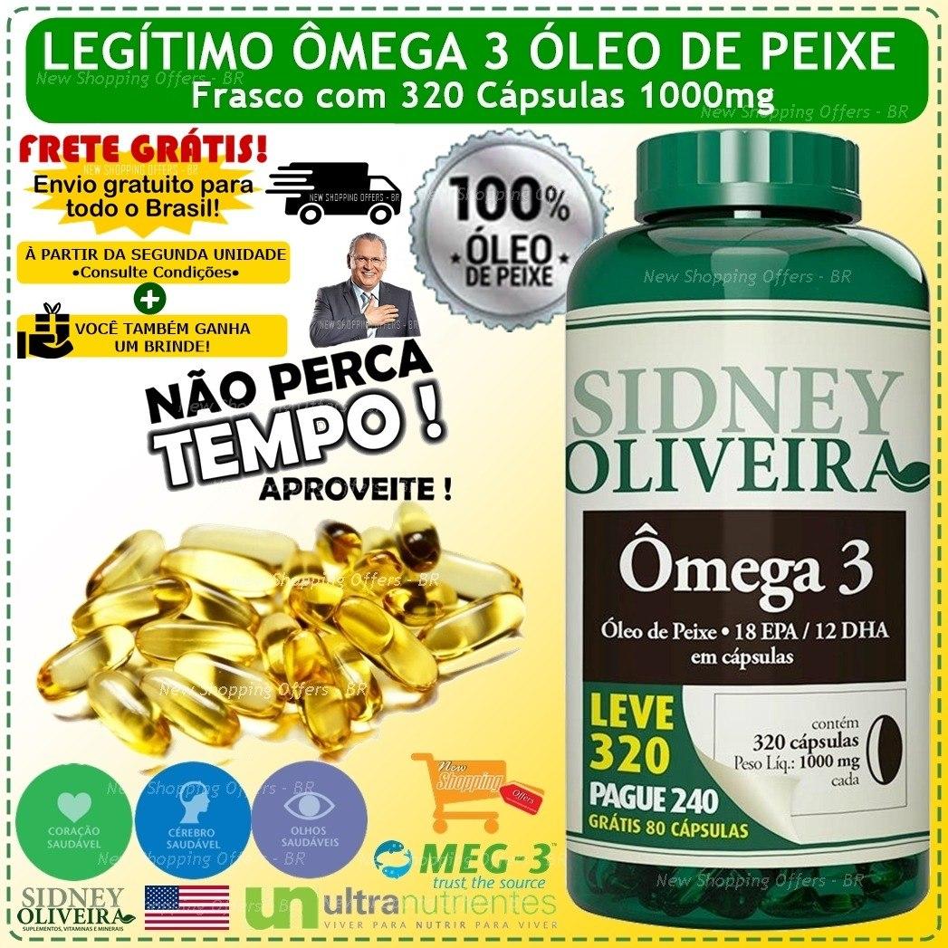 d0b991c4198 Omega 3 Sidney Oliveira 320 Capsulas 1000mg 100% Oleo Peixe - R  89 ...