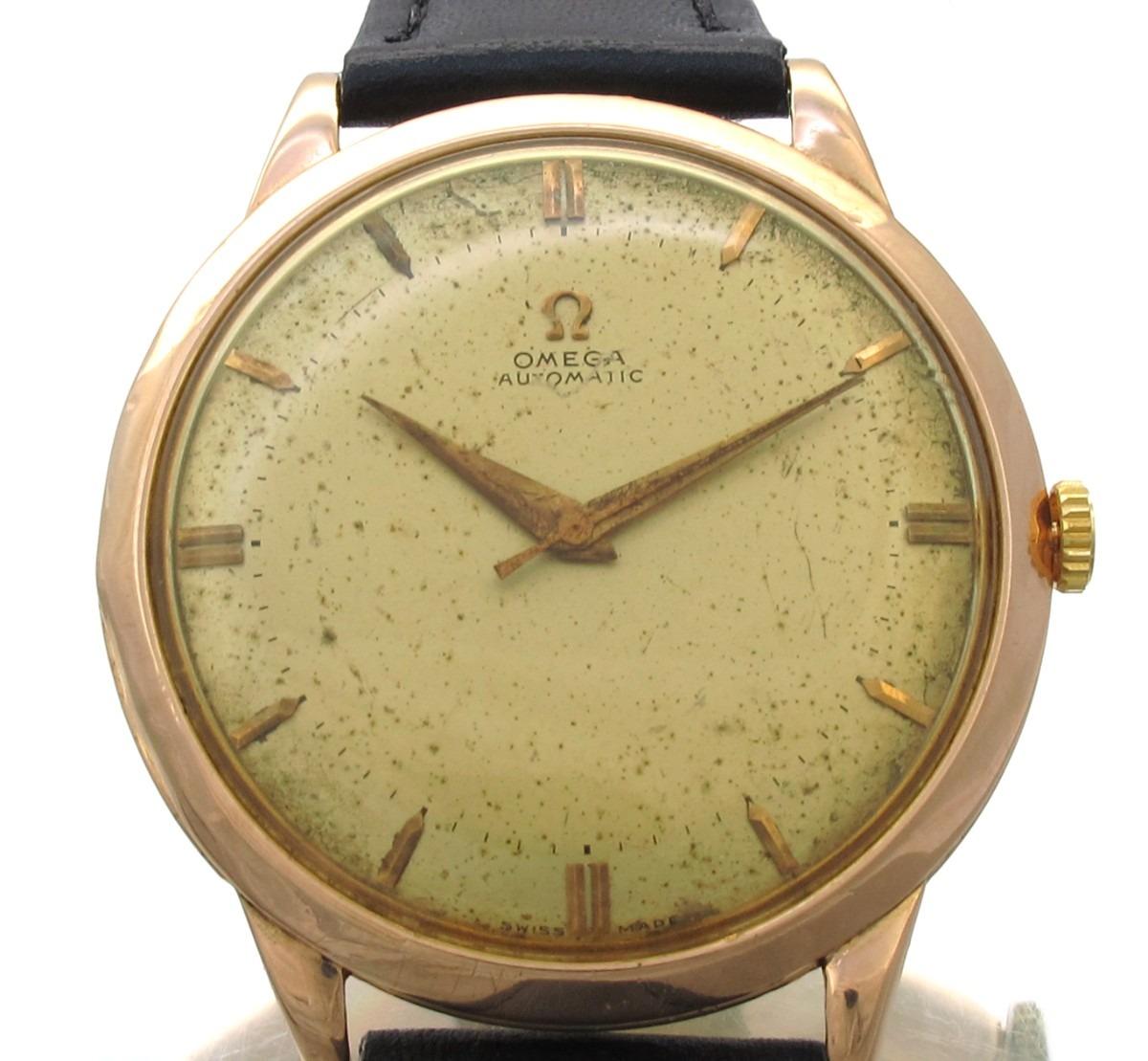 fcb786e4154 omega automático mov martelo relógio em ouro rose 18k j10856. Carregando  zoom.
