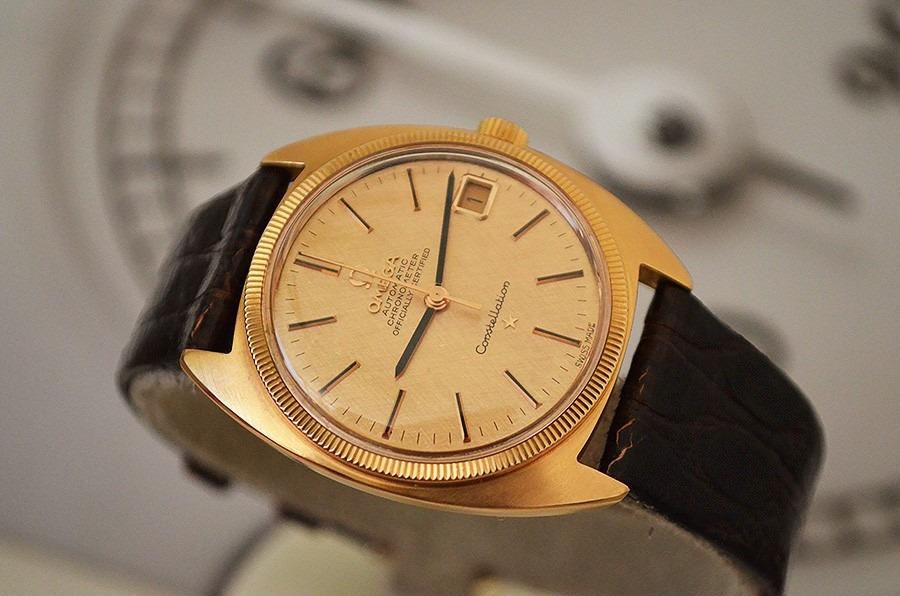 6bab5ac492e omega constellation em ouro rosa - raro mod dial em ouro 18k. Carregando  zoom.
