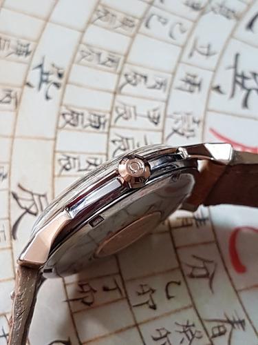 omega constellation pie pan aço e ouro rose original único !