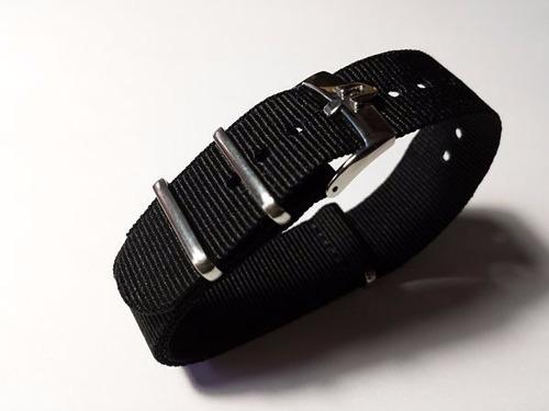 omega correa reloj nato negra 20mm alternativa con envío