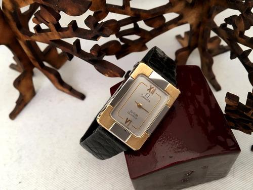 omega deville  new old stock  dama, oro y acero. quartz.