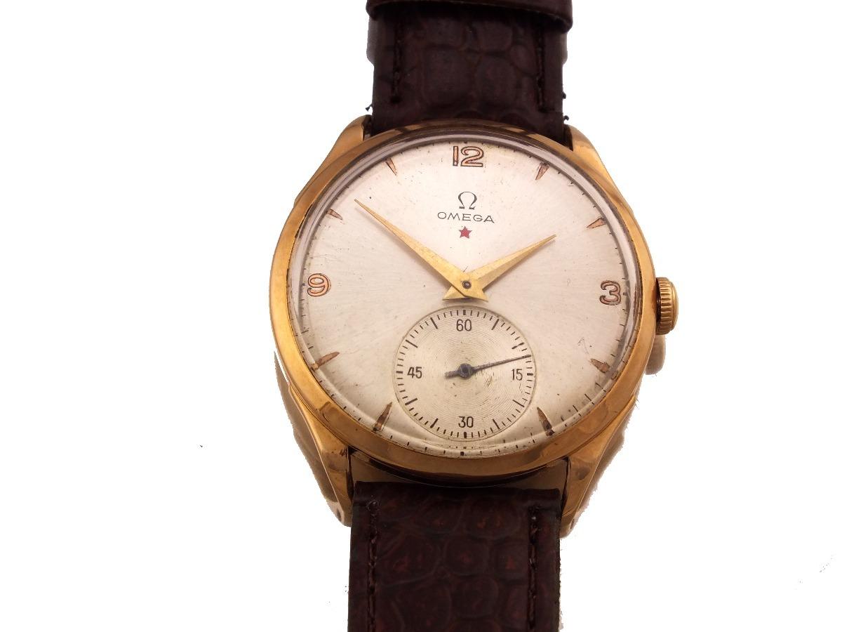 2f793b7c770 omega estrela vermelha 1944 relógio em ouro maciço 18 j12619. Carregando  zoom.