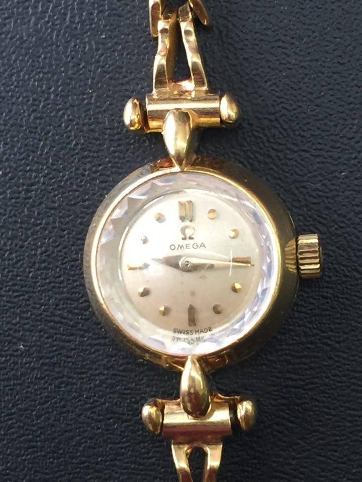 Omega Oro Solido 18k Vintage Cuerda Dama 23 000 00