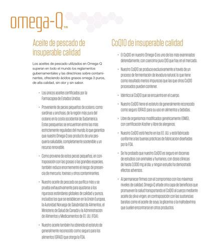 omega-q  aceite de pescado de   insuperable calidad