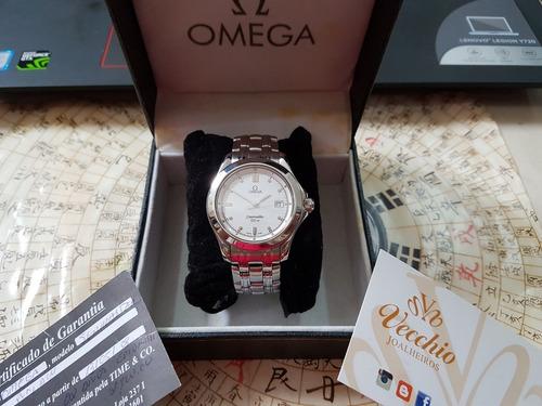 omega seamaster 120m mid size 36mm quartz revisado top !!!