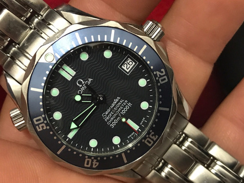 omega seamaster 300 m  automatico azul james bond 007 submar