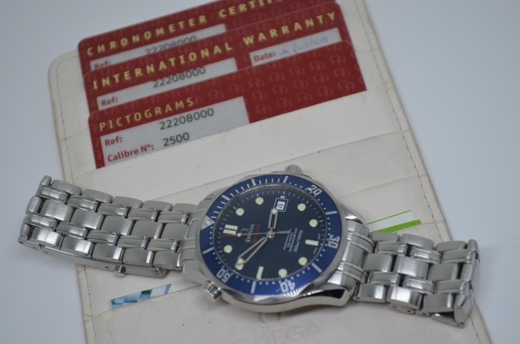 c7f43a45d15 Omega Seamaster Diver 300m Co-axial 41 Mm - Automático - R  9.490