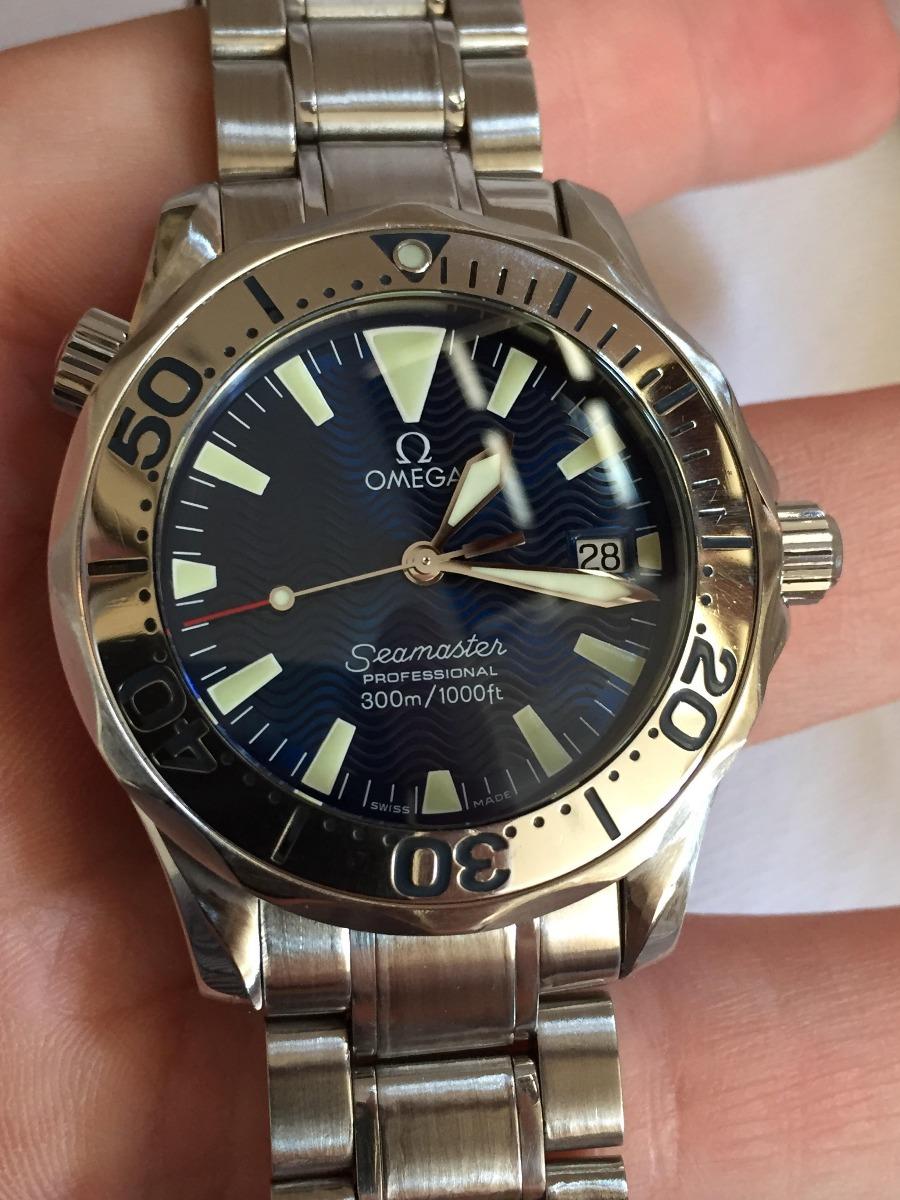 70676525a80 omega seamaster mid size electric blue dial - raridade. Carregando zoom.