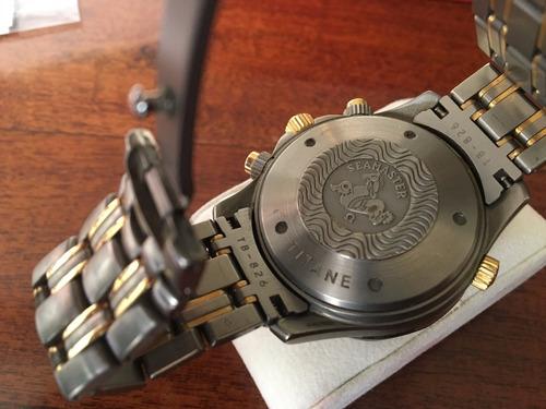 omega seamaster titanio y oro - único